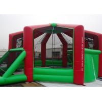 Buy cheap 0.55mmPVC Tarpaulin Outdoor Inflatable Sports Games Kids / Adults With Red And Green product