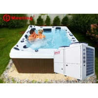 Buy cheap Meeting 7-56kw air source jacuzzi spa pool heat pump,swimming pool heat pump water heater R32/R410A/R417A product