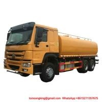Buy cheap Water Bowser Truck HOWO 6x4 25000L Water Tank WhatsAp+8615271357675 from wholesalers