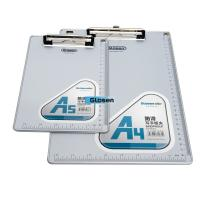 Quality A5 Personalized Acrylic Foldable Plastic Clip Board Aluminum For Office for sale