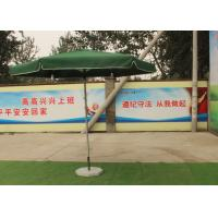 Buy cheap Green Large Square Umbrella With 50 Kg Marble Base , Square Steel Tube Frame product
