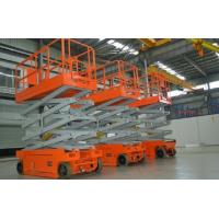 Buy cheap Scissor Electric Hydraulic Lift Platform Self Propelled For Construction / Maintenance product
