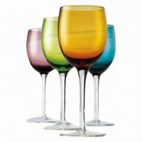 Buy cheap Red Wine Glass/Crystal Glassware, Wine Glasses Set, Customized Logos Available  product