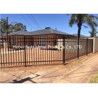Buy cheap Commercial Zinc Steel Fence , Ornamental Galvanized Steel Tube Fence Panels from wholesalers