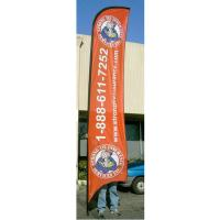 Buy cheap Advertising exhibition event Feather Flag Banners H4m / 13ft Size product