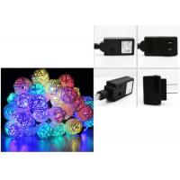 Buy cheap 110 Voltage Multi Colored Christmas Lights 6 Meter 30 Leds White / Red / Pink product