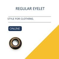 China Custom Washer Flat Brass Eyelets Ring Type & Grommets Designs For Clothing on sale