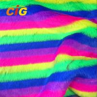 Buy cheap Knitted Colorful Faux Fur Fabric 500-1000 G/M Flame Retardant Anti Static product