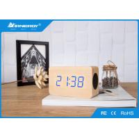 Buy cheap Super Bass Wooden Wireless Speakers / V4.0 Wooden Bluetooth Alarm Clock Radio from wholesalers