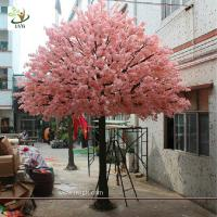 Buy cheap UVG 15 foot large cheap artificial trees in silk cherry blossoms for wedding background decoration CHR161 from wholesalers