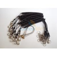 Buy cheap Power Tool Coiled Lanyard Holders Black Steel Cable With Snap Hooks / Wire Loop product