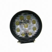 Buy cheap 27W LED Work Light with 2,000lm Luminous Flux and One Year Warranty from wholesalers