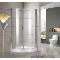 Buy cheap round / sector Corner Shower Enclosures Tempered  glass Material Magnet lock strip product