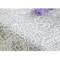 Buy cheap Wedding Dresses Water Soluble Lace Fabric With Chemical Polyester Floral Lace from wholesalers