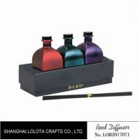 Buy cheap Sweet Smelling Home Reed Diffuser Set Customized Color With Rattan Stick product
