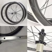 China 50mm Carbon Aluminium Clincher Wheels EN-14766 With Alloy Breaking Surface on sale