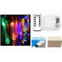 Buy cheap Indoor Battery Operated LED String Lights Warm White / Red Water Drop Shape product