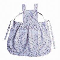 Buy cheap Kitchen Cooking Apron, Made of Cotton, Two Belts and Pockets, Various Sizes/Patterns are Available product