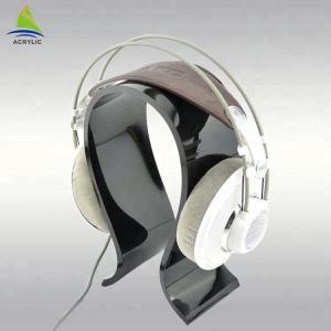 China Custom U Shape design acrylic headphone display stand on sale