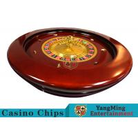 Buy cheap Deluxe Solid Wooden Roulette Wheel Game Difficult To Deformation For Casino product