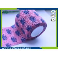 Buy cheap Pink Colour paw printing Veterinary Non Woven Self Adhesive Flexible Wrapping Bandage Coflex Pet Bandage product