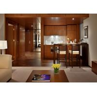 Contemporary Mahogany Panel Full Bedroom Custom Hotel Furniture Sets