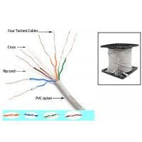 Buy cheap Telecommunication Cat6 UTP Cable 350MZ Ethernet 0.56mm Twisted pair with Drain Wire product