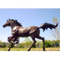 Buy cheap Casting Finish Life Size Large Running Bronze Horse Sculpture product