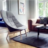 Buy cheap Leisure Style Uchiwa Fiberglass Lounge Chair For Living Room With Wooden Base product