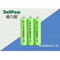 Buy cheap Small Power 1.2V 600mAh Rechargeable Battery , Rechargeable Aaa Batteries Nimh product