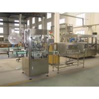 Buy cheap Safety Bottle Labeling Machine , Hot Melt Glue Labeling Machine Automatic Roll Fed product