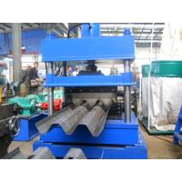China Gearbox Drive  Highway Guard Rail Roll Forming Machine Three Wave W Beam  Line Speed 5-20m/min on sale