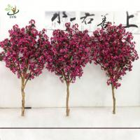 Buy cheap UVG 2m Rose pink artificial cherry tree branches with silk blossoms for garden decoration from wholesalers