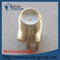 Buy cheap SMA female connector jack Panel Mount PCB Solder straight goldplated SMA connector from wholesalers