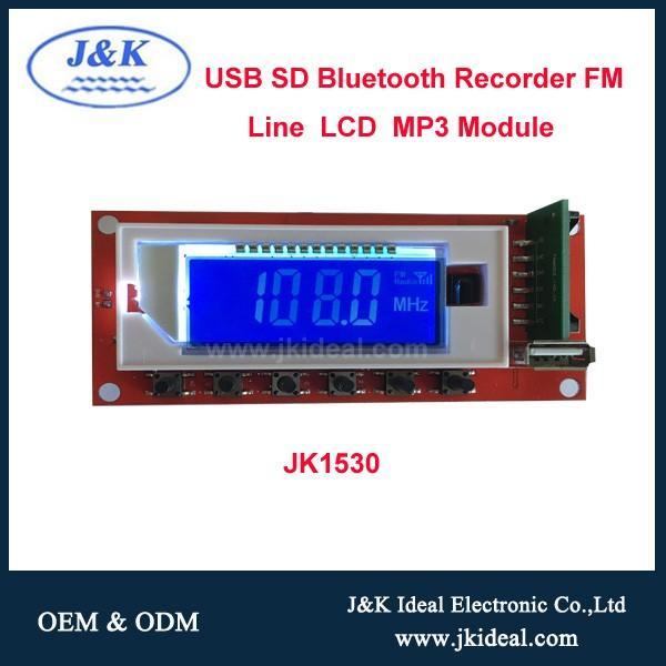 Bluetooth USB SD FM LINE Recorder mp3 module
