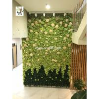 Buy cheap UVG Wedding stage backdrop decoration in artificial rose and hydrangea for from wholesalers