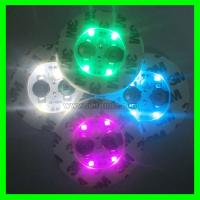 Buy cheap Bar promotional gifts bottle cup glass led round flash coaster supply product