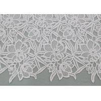 Buy cheap Water Soluble Embroidered Polyester Lace Fabric With Floral Lace For Dress Designer product