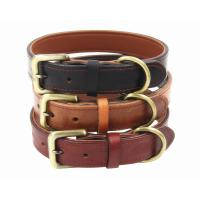 Buy cheap Soft Padded Leather Cat Collars Strong Adjustable For Training Running Walking product