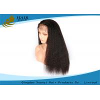 Buy cheap Popular 20 Inch Kinky Straight Human Hair Full Lace Wigs Bouncy And Soft from wholesalers