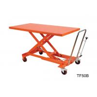 Buy cheap Orange Mechanical Scissor Lift , Hydraulic Table Cart Trolley Scissor Lift from wholesalers