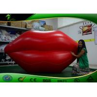 Quality PVC Inflatable Red Lips Shape Model / Inflatable Lip Balloon For Display for sale
