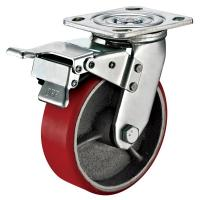 Buy cheap Small Red Caster Wheels / Heavy Duty Locking Swivel Casters With Plate Fitting product