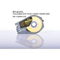 Buy cheap 12mm wire marking Label Tape Cartridge White for electronic marking equipment product