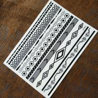 Removable Temporary Body Art Black Tattoo Stickers For Kids / Men / Women