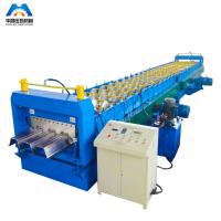 Buy cheap Steel Floor Decking Sheet Roll Forming Machine / Roll Former product