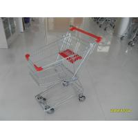 Buy cheap 4 Swivel 4 Inch PU Wheels Wire Shopping Trolley With Colorful Powder Coating Surface product