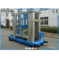 Buy cheap Reliable Blue Hydraulic Aerial Work Platform 22 M Height For Business Decoration product