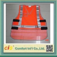 Buy cheap Mesh Polyester LED Reflective Safety Vests / Safety Jacket High Visibility Red / Yellow / Green product