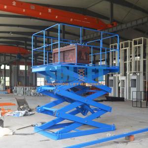 Quality 1T Stationary Hydraulic Scissor Lift Elevator , Pallet Scissor Lift Platforms for sale